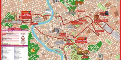 Rome city sightseeing bus peta rute